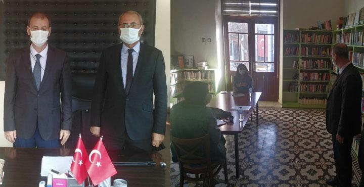 Hüsnü Işıkgör Kırıkhan Halk Kütüphanesini Ziyaret Etti