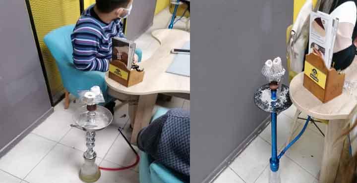 Pandemi Yasağında Nargile ve Sigara içilen İşletmeye Polis Baskını