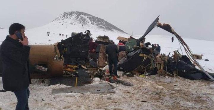 Bitlis'te askeri helikopter düştü: 11 askerimiz şehit, 2 askerimiz de yaralı