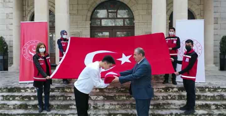 Şanlı Türk Bayrağımız Hatay'dan Yola Çıktı