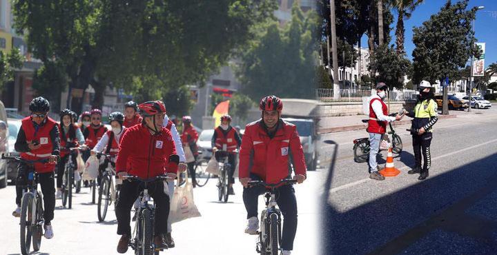Kızılay Bisiklet Ekibi İş Başında!