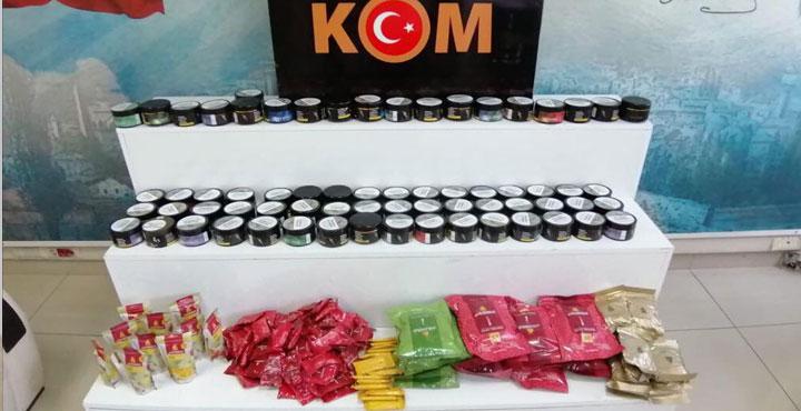 62.600 Adet Kaçak Makaron ve 40.650 Kg Kaçak Tütün Ele Geçirildi