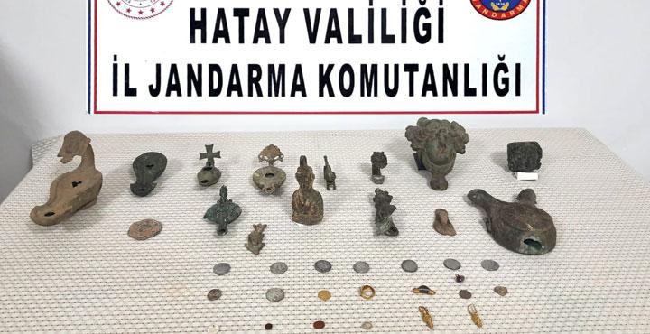 Kırıkhan'da Tarihi Eser Ele Geçirildi