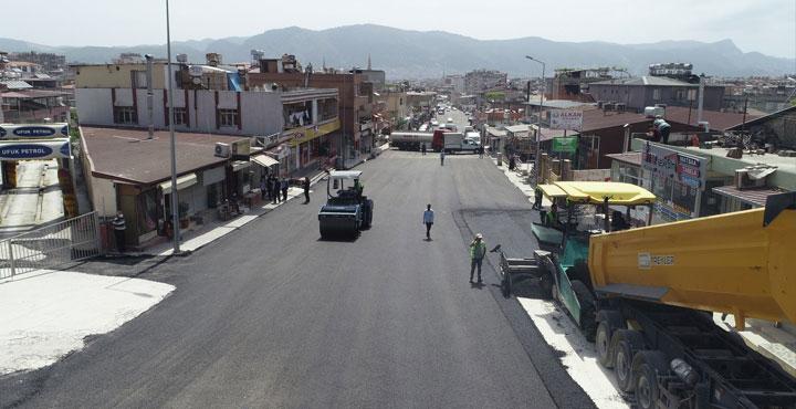 Şükrü Balcı Caddesi Asfaltlanıyor