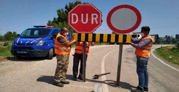 Erzin Osmaniye Yolu Araç Trafiğine Kapatıldı