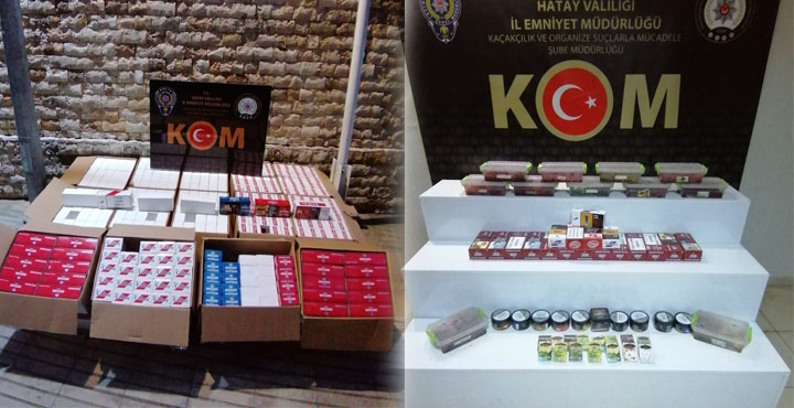 Hatay'da Kaçak Sigara ve Makaron Operasyonu