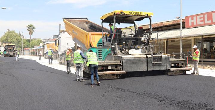 İstiklal Caddesinde Beton Asfalt Çalışmaları Tamamlanıyor