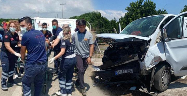 Dörtyol'da Trafik Kazası; 1 Ölü 4 Yaralı
