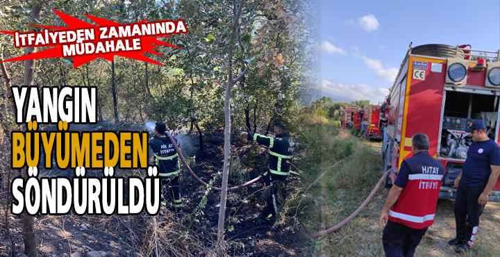 Bahçe Yangını İtfaiyenin Anında Müdahalesiyle Söndürüldü