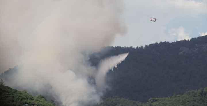 Hassa'daki Yangın İkinci Gününde de Devam Ediyor