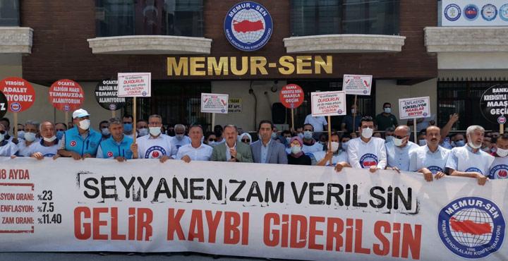 """Memur Sen """"Seyyanen Zam Verilsin Gelir Kaybı Giderilsin"""""""