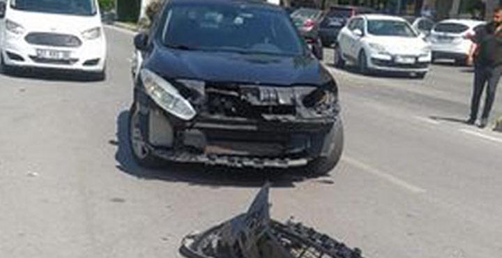 Motorsiklet ile Araç Çarpıştı: 2 Kişi Ağır Yaralandı