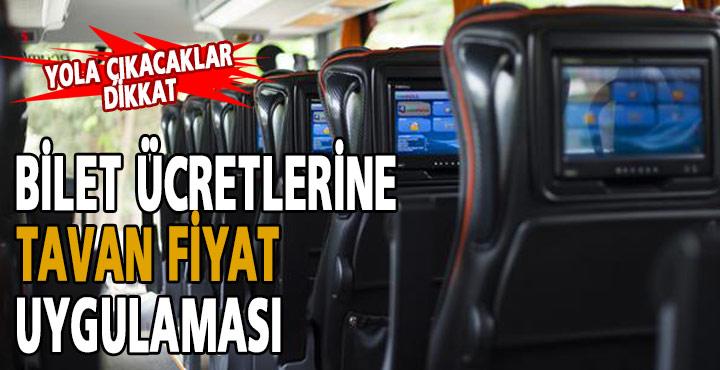 Otobüs Bilet Ücretlerine Tavan Ücret Uygulaması Getirildi