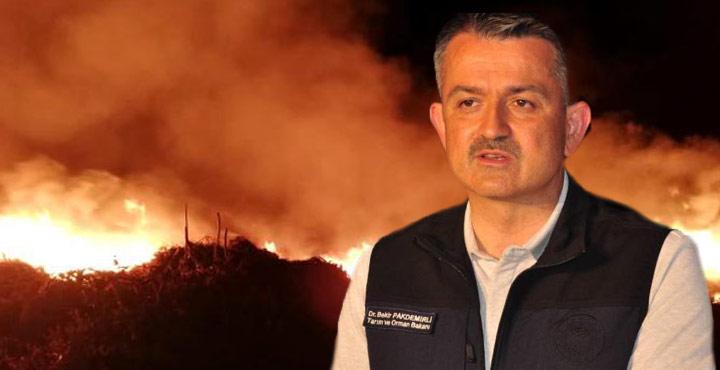 Bakan Pakdemirli, Orman Yangınlarına İlişkin Son Bilgileri Paylaştı
