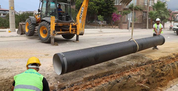 Samandağ'da Altyapı İyileştirme Çalışmaları Devam Ediyor