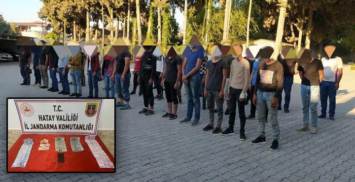 43 Kaçak Göçmen ve 1 Organizatör Yakalandı