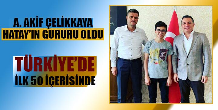 Hataylı öğrencinin TUBİTAK başarısı; Türkiye'de ilk 50 arasında