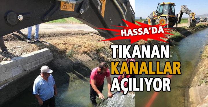 Hassa'da Tıkanan DSİ Kanalları Açılıyor