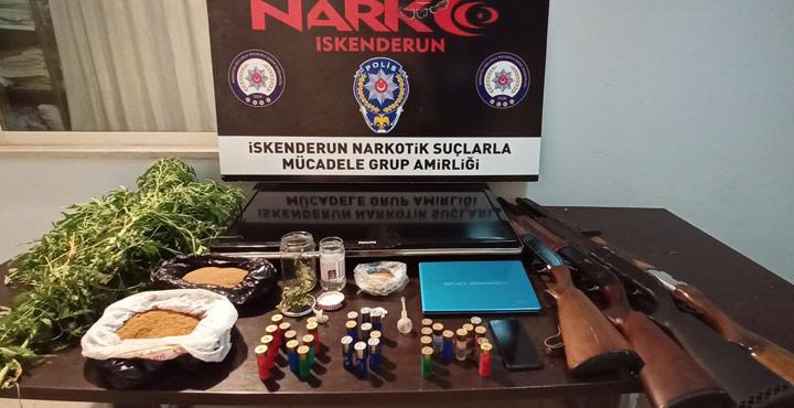 Hatay'da Uyuşturucu Ticareti Yapan 2 Şüpheli Gözaltına Alındı