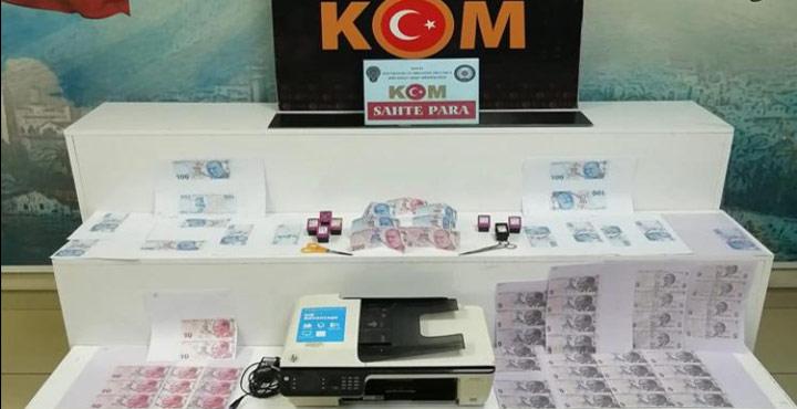 Sahte Para Basan Şahıslar Operasyon Sonucu Yakalandı