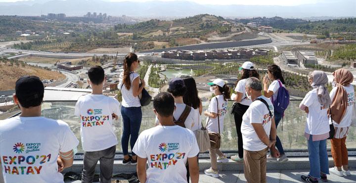 Gönüllülerden Expo Alanına Ziyaret