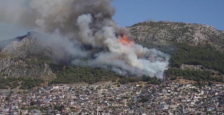 Antakya'da aynı anda 2. orman yangını
