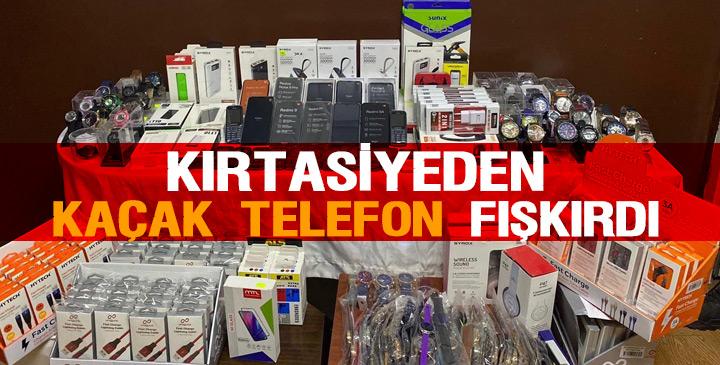 Jandarmadan Kırtasiyeye kaçak telefon operasyonu
