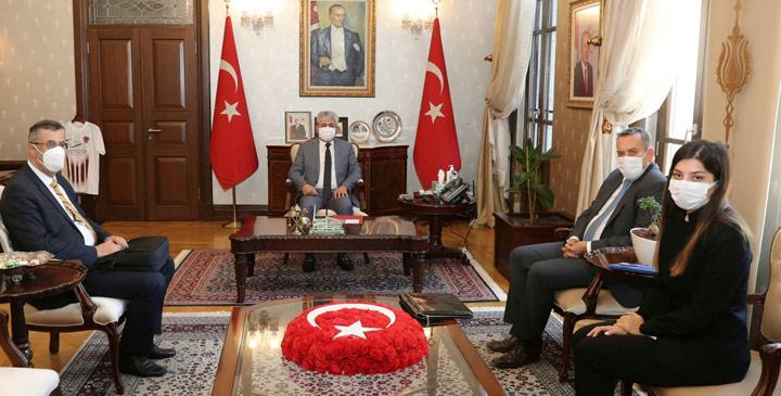 Vali Doğan, Slovenya Büyükelçisi Seligo'yu kabul etti