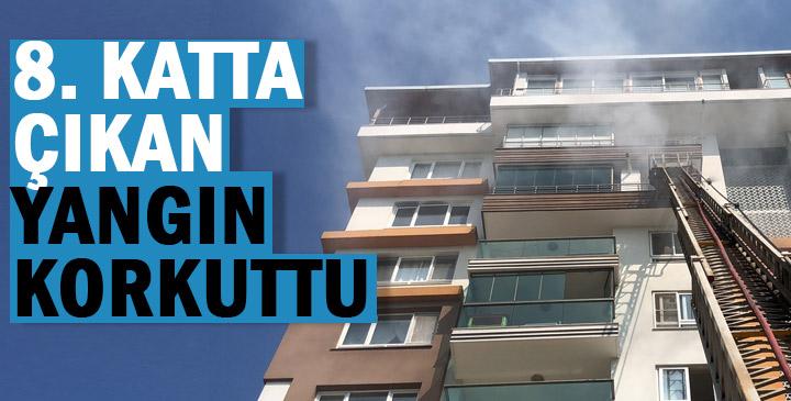 Apartmanda çıkan yangın kısa süreli paniğe neden oldu