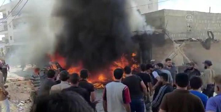 Afrin'de bomba yüklü araç patladı; 3 ölü, 6 yaralı